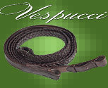 Vespucci Braided Leather Reins
