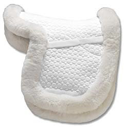 Mattes All Purpose Contour Saddle Pad with Edge Trim and Bare Flaps Best Price