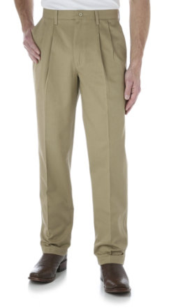 Wrangler Men's Riata Pleated Front Casual Pants Best Price
