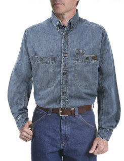 Riggs Workwear Mens Denim Work Shirt Best Price