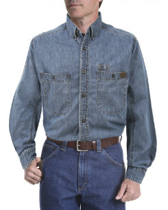 Riggs Workwear Mens Big and Tall Denim Work Shirt Best Price