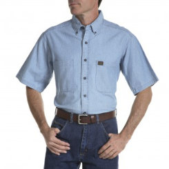 Riggs Workwear Mens Chambray Work Shirt Best Price