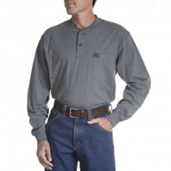 Riggs Workwear Mens Long Sleeve Henley Shirt Best Price