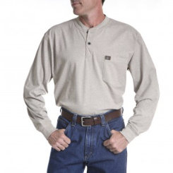 Riggs Workwear Mens Big and Tall Long Sleeve Henley Shirt Best Price