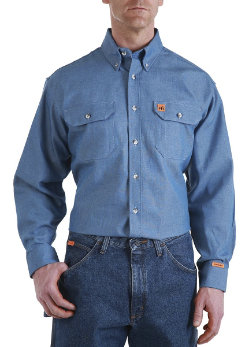Riggs Workwear Mens Fire Retardant Denim Shirt Best Price
