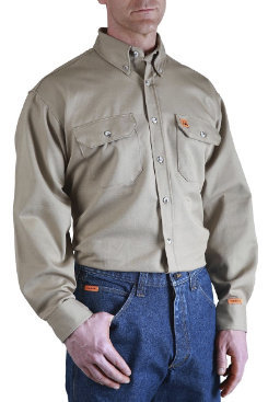 Riggs Workwear Mens Fire Retardant Twill Work Shirt Best Price