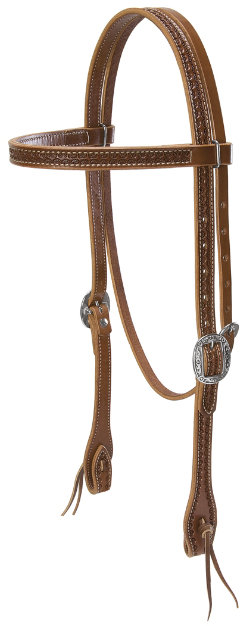 Weaver Handtooled Browband Headstall