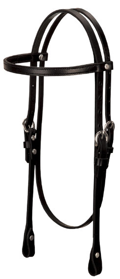 Weaver Black Leather Browband Headstall