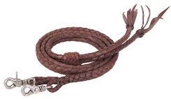 Weaver Round Braided Latigo Split Reins