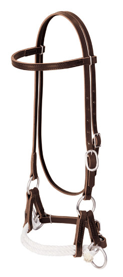 Weaver Deluxe Latigo Leather Side Pull