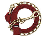 Weaver Nylon Lead Rope with Brass Plated Chain