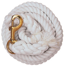 Weaver White Cotton Lead Rope with Solid Brass Snap