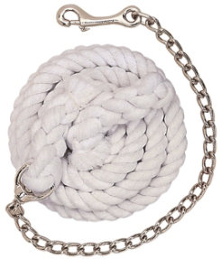 Weaver White Cotton Lead Rope with Chain