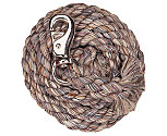 Weaver Natural Toned Cotton Lead Rope with Bull Snap