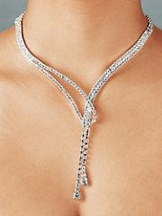 Rhinestone Loop Necklace