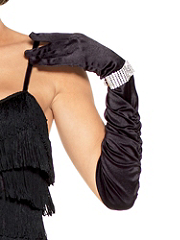 Buy Long Ruched Satin Glove, see details about this Sexy Lingerie and more