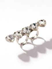 Buy Sparkle Heart Two-Finger Ring, see details about this Sexy Lingerie and more