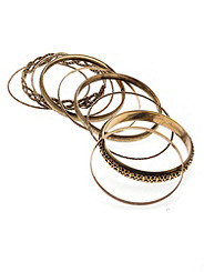 Petal to the Metal Braided Bangle Set