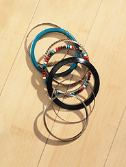 Six-Piece Beach Ball Bangle Set