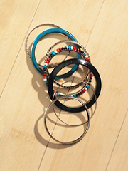 Six-Piece Beach Ball Bangle Set details, images and more