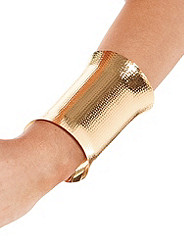 Wide Goldtone Cuff