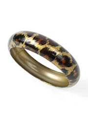 Large Animal Print Metal Bangle details, images and more
