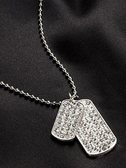 Rhinestone Dog Tags