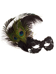 Buy Bejeweled Peacock Feather Mask, see details about this Sexy Lingerie and more