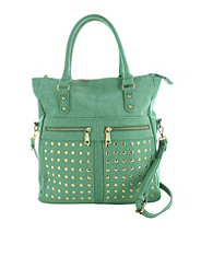 Studded Double Pocket Tote