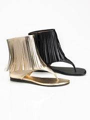 Buy Unhinged Fringe Flat Sandal, see details about this Sexy Lingerie and more
