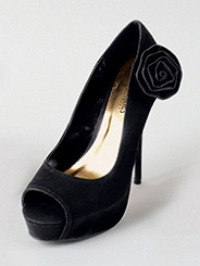 Rose Detail Peep-Toe Pump