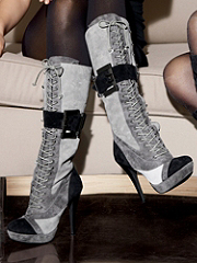 Buy Lace-Up Suede Buckle Boot, see details about this Sexy Lingerie and more