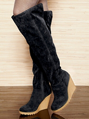 Buy Faux Suede Wedge Boot, see details about this Sexy Lingerie and more