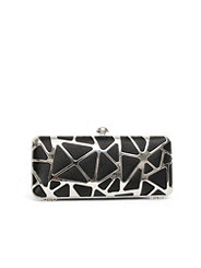 Black Metal Miniaudiere Clutch