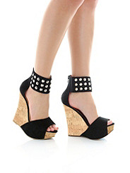 Studded Cork Wedge