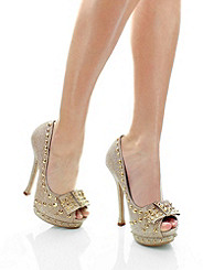 Star-Studded Peep Toe