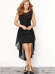 Illusion High-Low Dress Plus