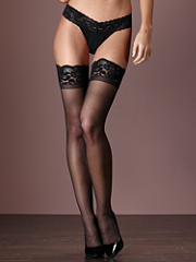Buy Scallop Lace-Top Thigh High Stocking, see details about this Sexy Lingerie and more