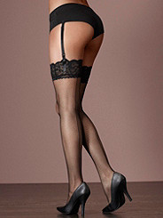 Lace-Top Backseam Fishnet Stocking