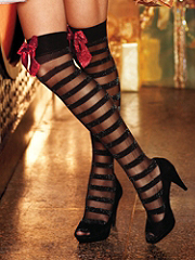 Buy Glitter Bow Lurex Thigh High, see details about this Sexy Lingerie and more