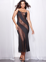 Buy Bias-Cut Boudoir Gown Plus, see details about this Sexy Lingerie and more