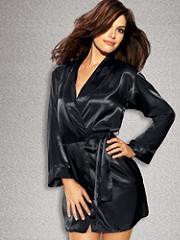 Buy Satin Shawl Collar Robe Plus, see details about this Sexy Lingerie and more