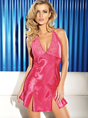 Hayworth Lace Cup Halter Chemise details, images and more