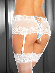 Buy Lurex Lace Crotchless Boyshort, see details about this Sexy Lingerie and more