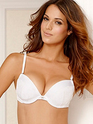 Hollywood Exxtreme Cleavage Satin & Lace Demi Bra