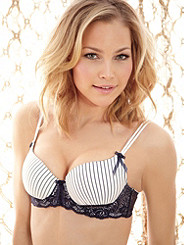 Pinstripe Pin-Up Bra