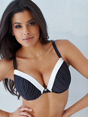 Buy Hollywood Exxtreme Cleavage Mesh Satin Tuxedo Full-Figure Bra, see details about this Sexy Lingerie and more