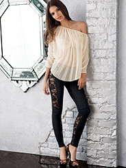 Lace Accent Legging