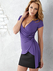 Cap Sleeve Surplice Top