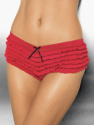 Ruffled Open Panel Boyshort